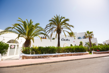 legendary: Cala Dor, Spain - July 02 2015: View of the legendary disco club Farahs in Mallorca at the summer time