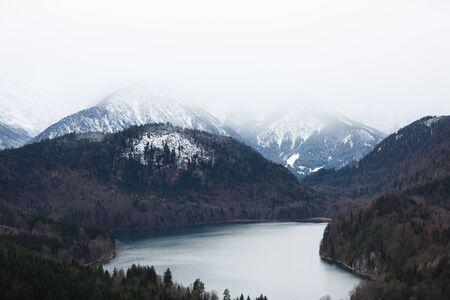 schwangau: Lake in the Alps in Schwangau, Germany