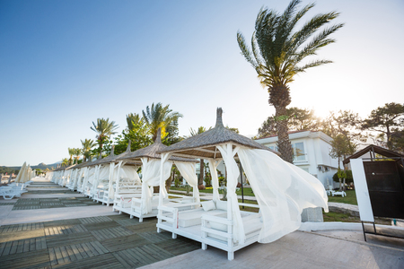 recreation area: The veranda on a beach in a recreation area