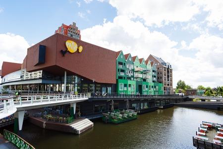 zaandam: Zaandam, Netherlands - July 02 2016: View of the shopping mall Pathe nearby the Inntel hotel in center city, summer time Editorial