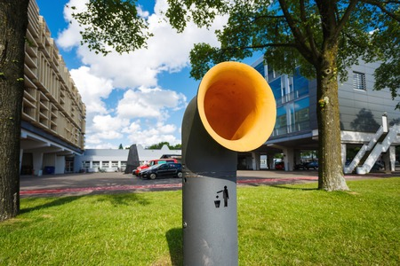 urn: The modern urn in an office centre of Amstardam, Netherlands Stock Photo