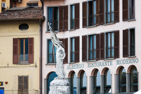 martiri: Lovere, Italy - May 08 2016: Monument dedicated the Unity and Independence of Italy, located on 13 Martiri square