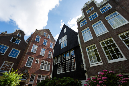 dutch: The facade of traditional Dutch houses, Amsterdam