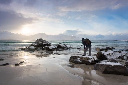 rack mount: The traveling photographer in the Lofoten Islands
