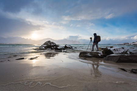 The traveling photographer in the Lofoten Islands