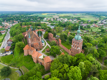 Bird-eye view of the Cathedral of Frombork, Poland