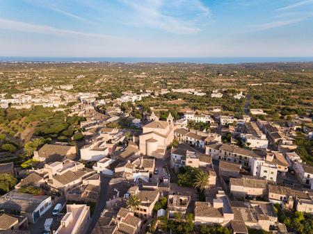 Aerial: SAlqueria Blanca town in Mallorca, Spain Stock Photo