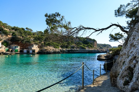 Cala Llombards beach in Mallorca, Spain