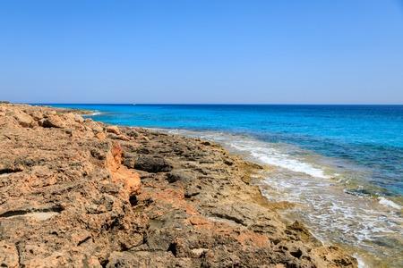 The stony coastline