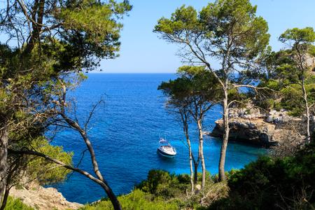 The lagoon of Cala des Moro in Mallorca, Spain