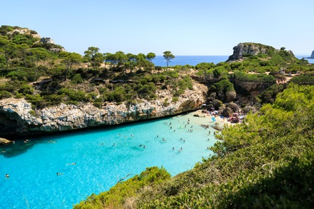 The beach of Cala des Moro in Mallorca, Spain Stock Photo