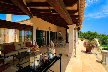 Terrace of the Spanish house