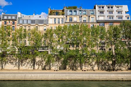 Green promenade in Paris in a sunny day