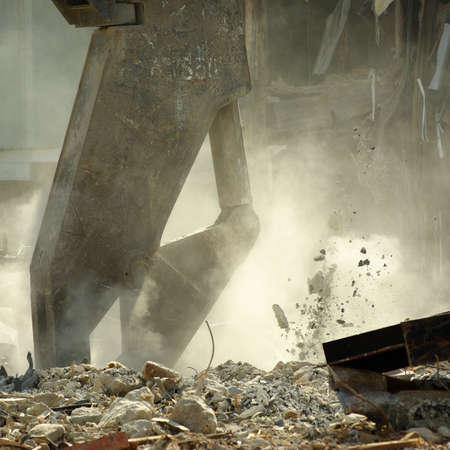 Demolition of the old historical buildings of the shopping center  Reklamní fotografie