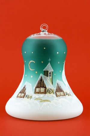 xmass: Typical Bohemia glass product - Xmass bell