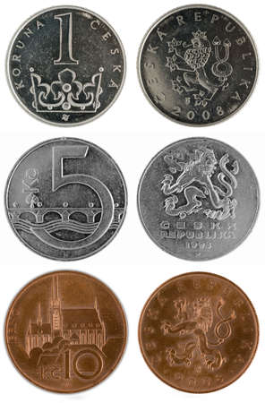 Coins of Czech republic Reklamní fotografie - 5296304