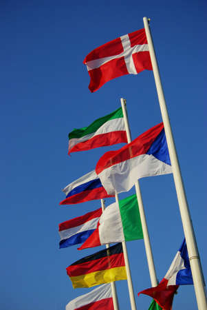 Flags of european countries (Czech flag is wrong (bottom is up :-) Stock Photo - 5500074