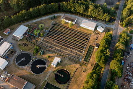 greywater: Wastewater treatment plant in Susice city, Czech republic