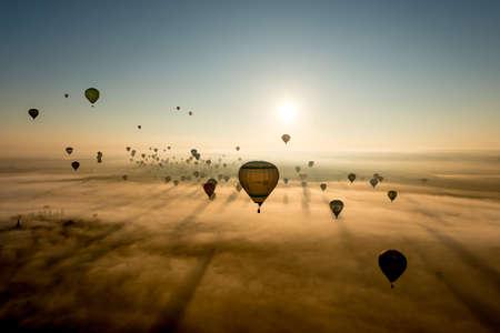 Europe's largest hot air balloon event in France - Lorraine Mondial Air Balloon 2015. Reklamní fotografie - 43863219