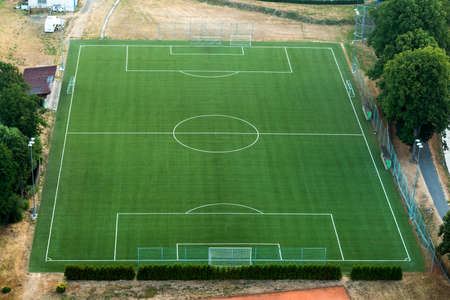 aerial photograph: Football stadium in Susice - Czech Republic on the aerial photograph