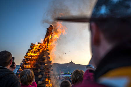 The burning of witches