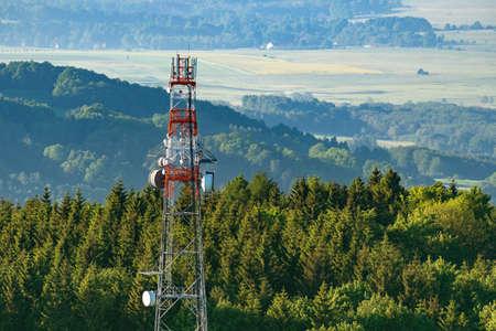 satelite: Telecommunication tower Stock Photo