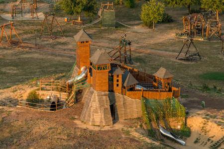 Model of Trosky Castle in the Stastna zeme Resort in Radvanovice, Czech Paradise