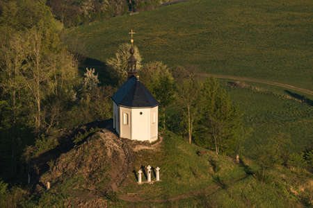 Chapel of St. Anne on Vysker hill in Bohemian Paradise. Stock Photo
