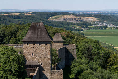 Ruins of Helfstyn Castle in the Moravia region