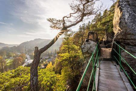 Zahradka viewpoint in Mala Skala in the Bohemian Paradise Reklamní fotografie