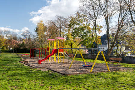 Childrens playground in the city park in Liberec city