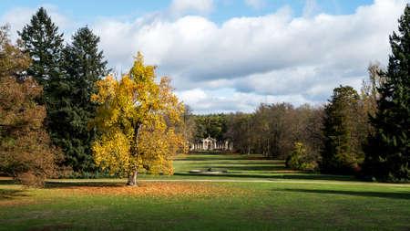 Sychrov Castle park in Czech republic in autumn colors Reklamní fotografie