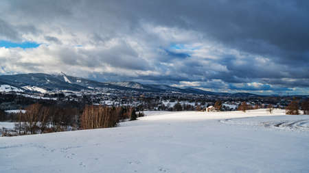 View of Liberec town with Mount Jested. Reklamní fotografie - 158803430