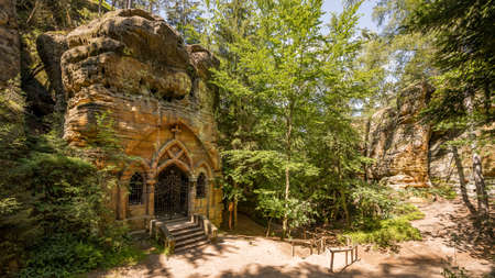 Rock Chapel of Our Lady of Lourdes Reklamní fotografie