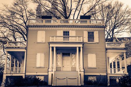 Hamilton Grange at St. Nicholas Park, Harlem, New York City, NY USA 写真素材