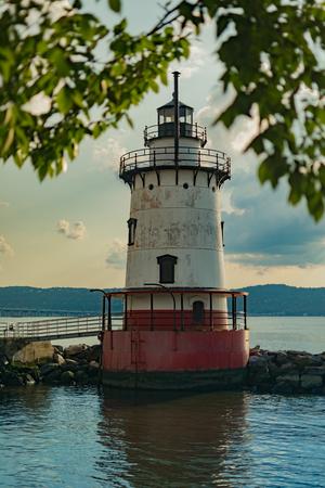 Sleepy Hollow Lighthouse on a beautiful sunny day, Sleepy Hollow, Upstate New York, NY, USA