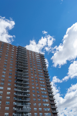 NYC housing projects on 145th Street and Malcolm X Boulevard, in Harlem