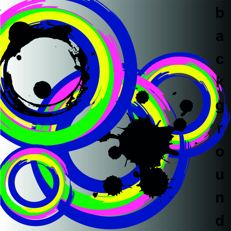 cd cover: Circle Vector illustration. Background. cd cover dising.