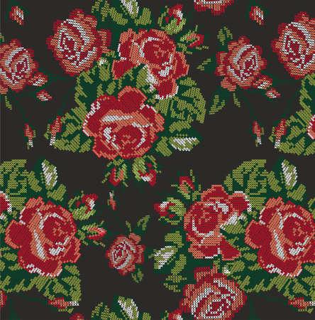 Rose da ricamo Archivio Fotografico - 89679344