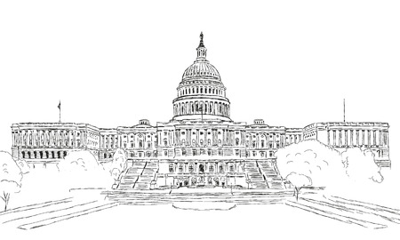 the capitol: U.S. Capitol Illustration