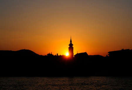 Sunset in Budapest on the Danube photo