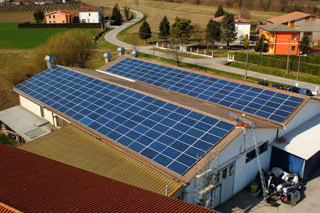 Photovoltaic system on a small factory