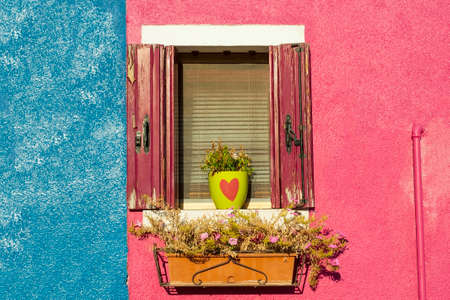 Detail in Burano, an island full of colors in the lagoon near Venice photo