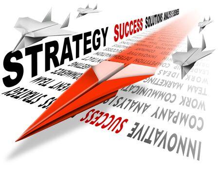 proposito: Plano papel rojo en la pista se compone de escrito, una met�fora de �xito y liderazgo