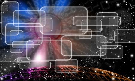 bytes: Technologic abstract sky