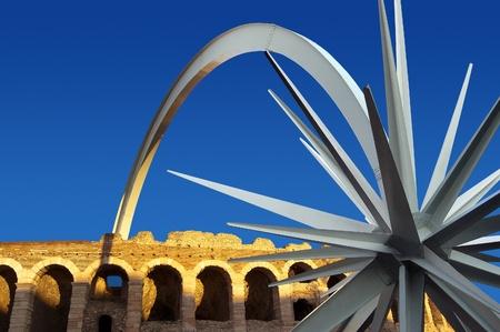 Arena of Verona - Italy with modern Christmas star photo
