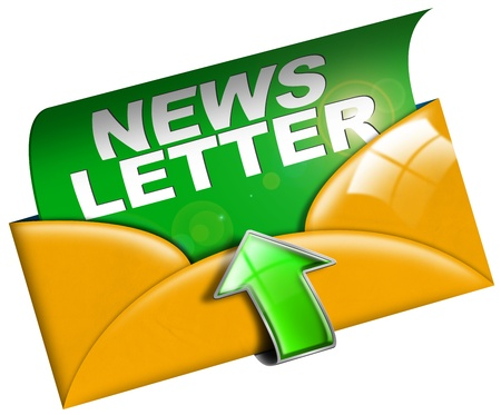 Newsletter marketing concept on white background
