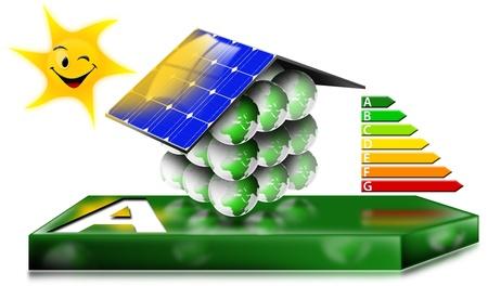 radiacion solar: Energía de la Cámara concepto de ahorro Foto de archivo