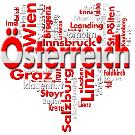 I Love �sterreich (Austria) Reklamní fotografie