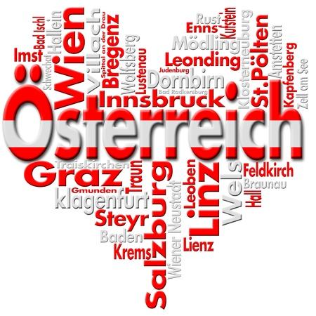 Ik houd van sterreich (Oostenrijk) Stockfoto